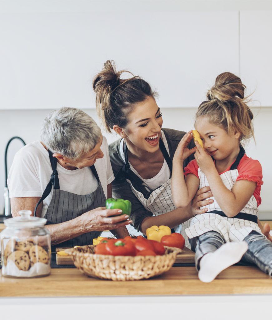 cocina responsable familia